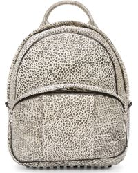 Alexander Wang White and Black Leather Contrast Tip Dumbo Backpack - Lyst