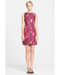 Marc Jacobs Petal Print Silk Sheath Dress - Lyst