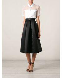 Lulu & Co | Satin Box Pleated Skirt | Lyst