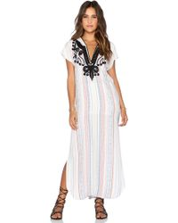 Twelfth Street Cynthia Vincent Jalaba Hoodie Maxi Dress white - Lyst