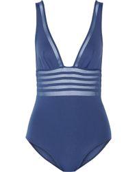 La Perla Kosmos Mesh-trimmed Swimsuit - Lyst