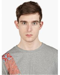 Paul Smith Men'S Paisley Panel Cotton T-Shirt - Lyst