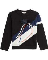 Fendi Cashmere Pullover With Fur multicolor - Lyst