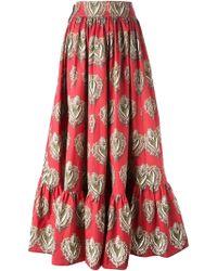 Dolce & Gabbana 'Sacred Heart' Print Skirt - Lyst