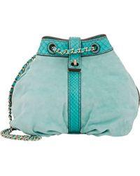 Zagliani - Python-trim Sissy Shoulder Bag-blue - Lyst