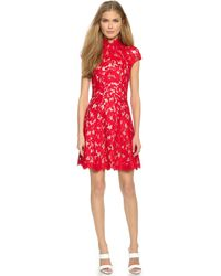 Lover Warrior Lace Mini Dress - Rose - Lyst