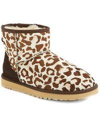 Ugg 'Mini Classic' Leopard Print Calf Hair Boot - Lyst