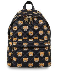 Moschino Bear Print Quilted Backpack - Lyst
