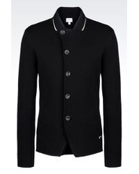Armani Jacket In Cotton Pique Blend - Lyst