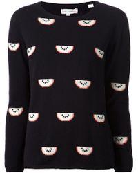Chinti & Parker Watermelon Sweater - Lyst