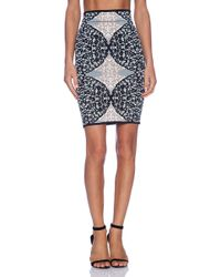 BCBGMAXAZRIA Lace Pencil Skirt - Lyst
