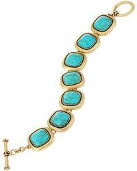Lauren by Ralph Lauren Square Turquoise Toggle Bracelet - Lyst