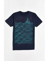 Design By Humans Sailing Tee - Blue