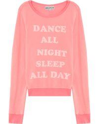 Wildfox Dance All Night Ls Sweater - Lyst