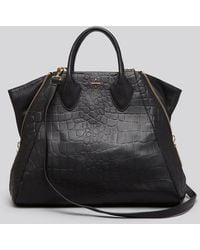 Pour La Victoire Tote Yves Croc Embossed - Lyst