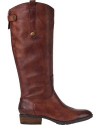 Sam Edelman | Penny Riding Boot Whiskey Leather | Lyst