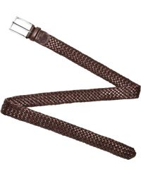 FORZIERI - Mens Brown Woven Leather Belt - Lyst