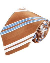 Kiton Diagonal Stripe Neck Tie - Lyst