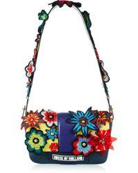 House of Holland | Hot Dog Embellished Leather Shoulder Bag | Lyst