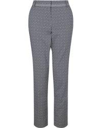 Marella Jacquard Trousers - Blue