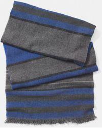 Coach Wool Cashmere Blanket Stripe Scarf - Lyst