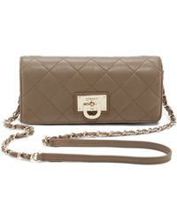DKNY Quilted Leather Wallet Clutch - Lyst