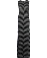 Gareth Pugh Black Long Dress - Lyst