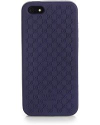 Gucci Gg Bio-plastic Cover For Iphone 5 - Lyst