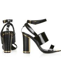 Topshop Relish Metal High Sandals - Lyst