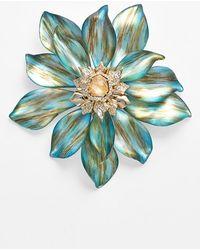 Alexis Bittar 'Lucite' Flower Statement Pin - Marbled Aqua - Lyst