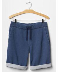 "Gap 1969 Indigo Jogger Shorts (10"") - Lyst"