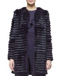 29bfaac58a47 Cushnie et Ochs - Open-front Striped Fur Coat - Lyst