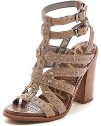 Sam Edelman Keith Studded Sandals - Brown Sugar - Lyst