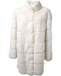 P.a.r.o.s.h. White Oversized Coat - Lyst