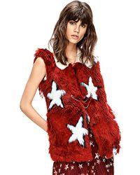 Tommy Hilfiger Runway Faux Fur Star Vest - Lyst