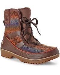 Sorel Dark Brown Tivoli Boots - Lyst