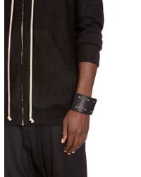 Rick Owens | Double Leather Cuff | Lyst