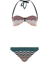 Missoni Mare Lurex Bandeau Bikini - Lyst