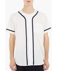 Ganryu | White Cotton Baseball Shirt | Lyst