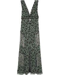 Anna Sui Printed Silkchiffon Maxi Dress - Lyst