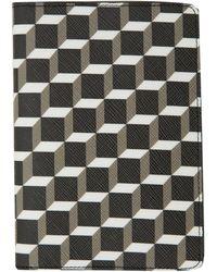 Pierre Hardy Black Canvas Cube Print Passport Cover - Lyst
