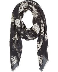 Alexander McQueen Black and White Fireworks Scarf - Lyst