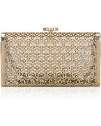 Madison Avenue Couture - Chanel Runway Gold Tone Cage Minaudiere - Lyst
