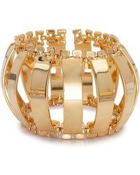 Lele Sadoughi - Caterpillar Gold-Plated Cuff Bracelet - Lyst