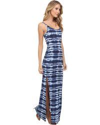 BCBGeneration Maxi Strappy Bodycon Dress blue - Lyst