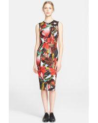 Erdem Print Ponte Knit Pencil Dress multicolor - Lyst