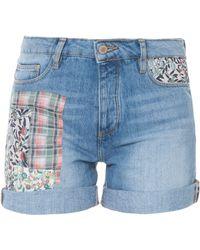 Paul & Joe Lk19 Denim W Patch Shorts - Lyst