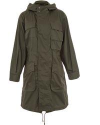 ATM - Dark Green Hooded Cotton Parka Jacket - Lyst