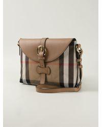 Burberry Haymarket Check Cross-Body Bag - Lyst