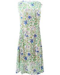 Oscar de la Renta Floral Lace Crochet Dress - Lyst